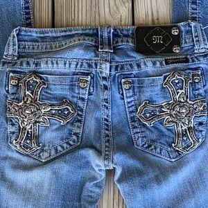Miss me JP6074B boot cut jeans size 26.